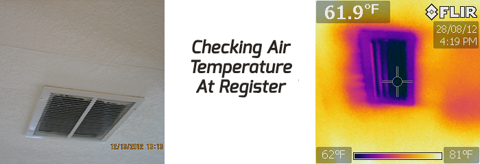 Infrared Home Inspections - inspecting air return