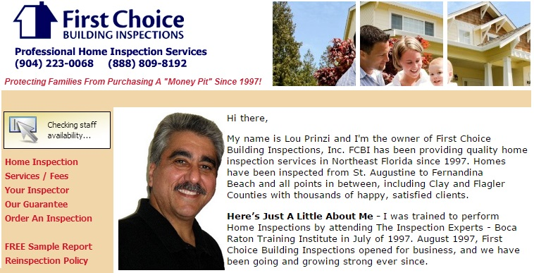Copyright Lou Prinzi, First Choice Building Inspections