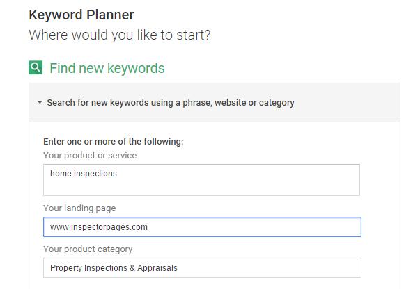 keyword research with keyword planner