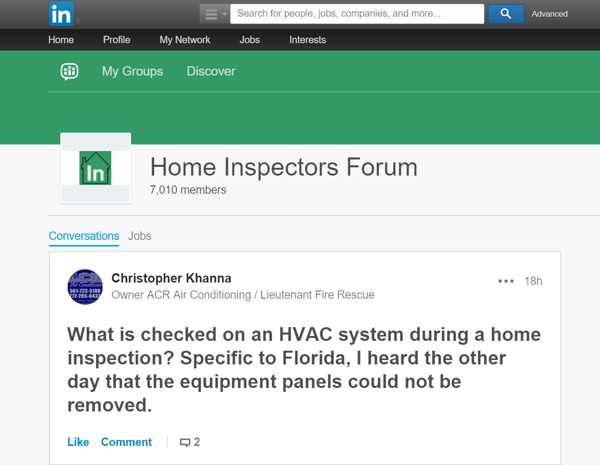 LinkedIn marketing for home inspectors