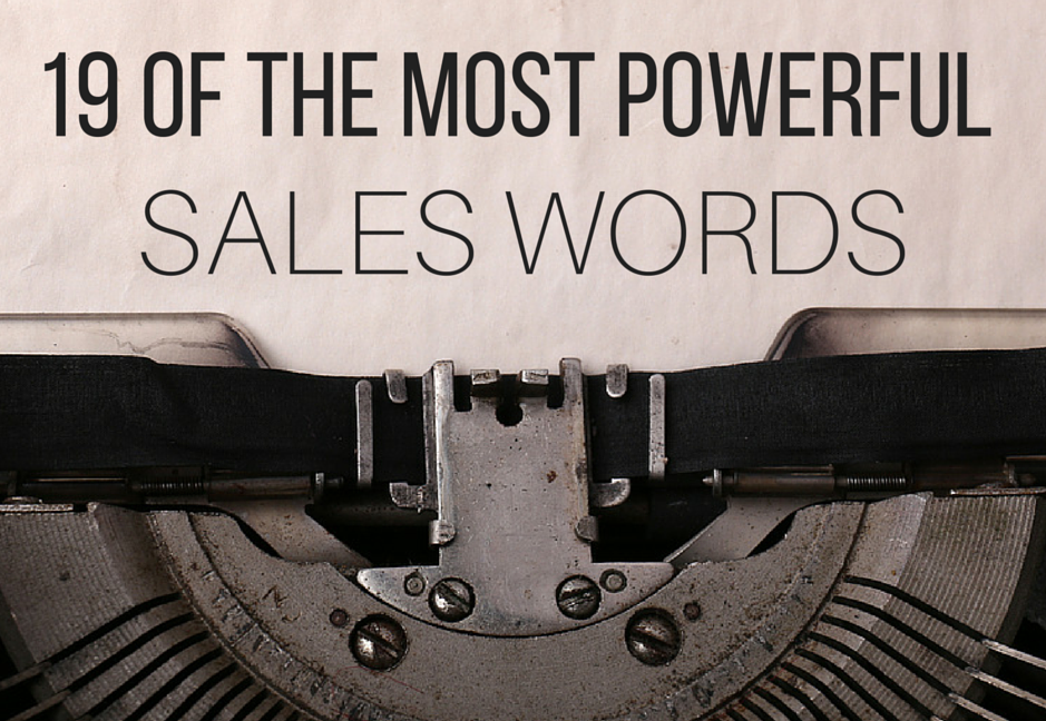 10 strongest sales words